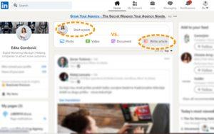 LinkedIn Članak vs. LinkedIn Objava